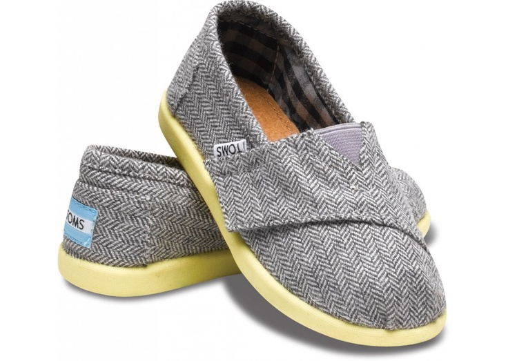 Yellow Pop Herringbone Tiny  / TOMS Classics #baby #babyshoes