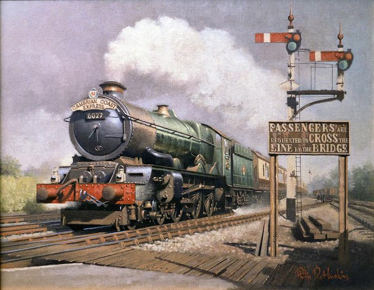 Warwickshire Railways Art - Philip Hawkins FGRA - The Cambrian at Hatton www.warwickshirerailways.com