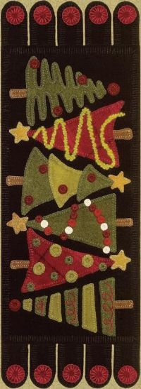 christmas: Merry Hooker, Wool Applies Patterns, Tannenbaum Wool, Rugs Hooks, Pennies Rugs, Tables Runners, Wool Appliques Patterns, Christmas Runners, Christmas Trees