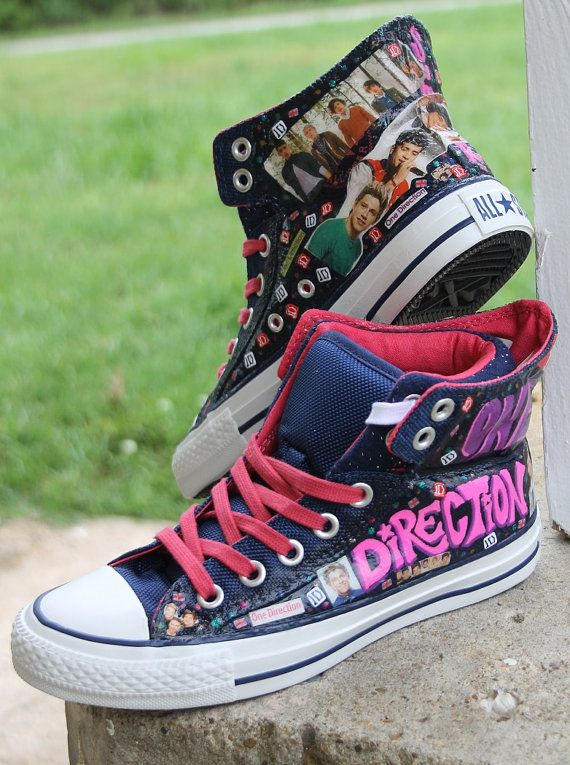 1D One Direction Fan Custom Clothes Photo Toms or Vans Shoes Group with Harry Louis Niall Zayn Liam Teen Girl Dream Gift