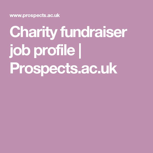 Charity fundraiser job profile | Prospects.ac.uk