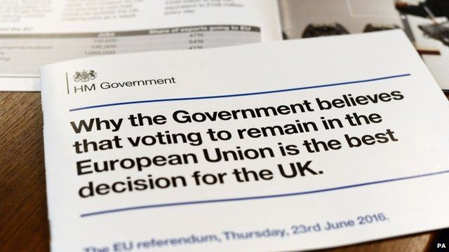 How the Government plans to advertise staying in the EU to the 27 million householders in Britain using leaflet distribution