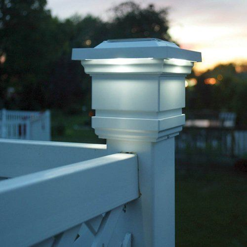 18 Best Images About Fence Post Lights On Pinterest