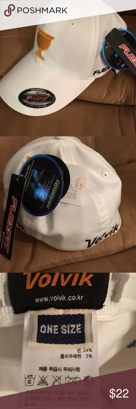 Presidents Cup Flexfit Cool & Dry -Volvik Golf Cap This is a brand-new Presidents Cup Flexfit Cool & Dry -Volvik Golf Cap.  It is extremely well-made and detailed.  It is one size with flex fit. Volvik Accessories Hats