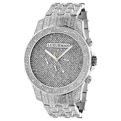 Real Diamond Watches for Men | Mens Luxurman Watches: Real Diamond Watch 1.25ct