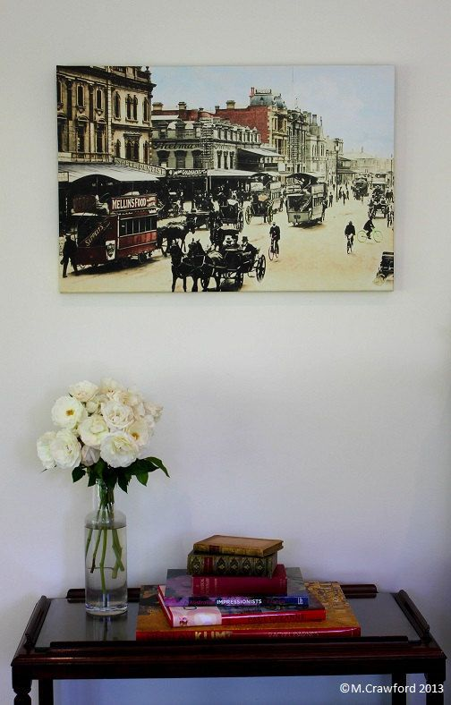 Canvas Print  Adelaide City Streetscape (King William Street) c.1906 by CVPublications, $165.00