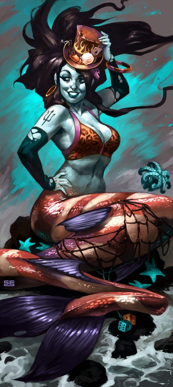 Simon Eckert mythology-pinups-Mermaid