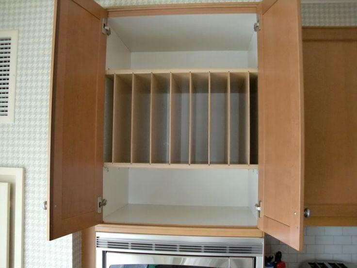 kitchen cabinet wood tray dividers above fridge oven drawer organizers storage divider organizer