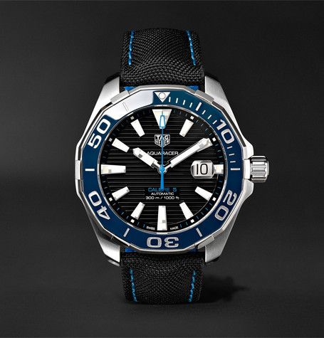 TAG Heuer Aquaracer Automatic 43mm Steel And Nylon Watch