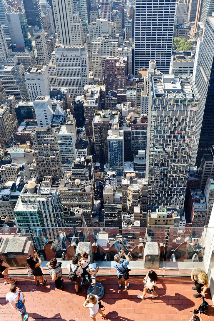 View from Top of the Rock Observation Deck, Rockefeller Center, Midtown Manhattan, New York City  // localadventurer.com
