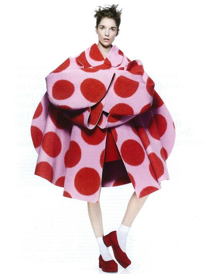 Janice Alida wears Comme des Garçons for Vogue Paris, October 2012.