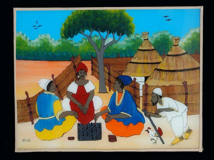 Reverse Glass Painting Senegal