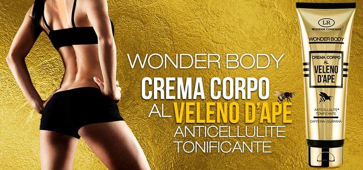 Wonder Body Crema corpo al Veleno d'Ape anticellulite tonificante
