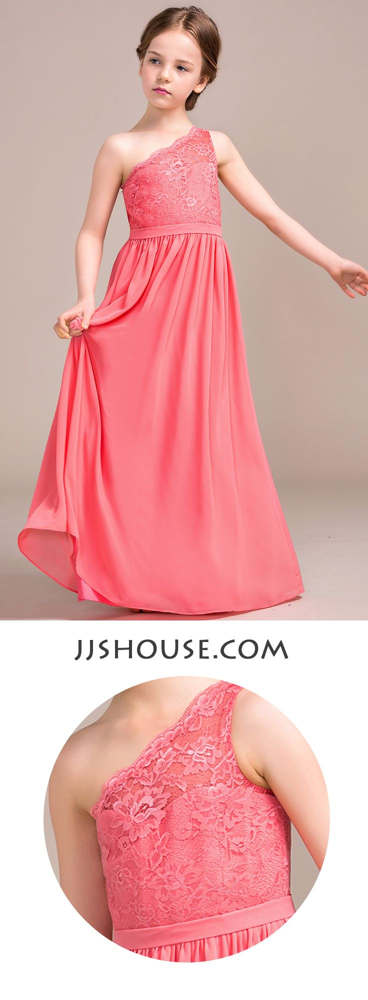 288 best images about teens on pinterest tulle dress shops and kpop a lineprincess one shoulder floor length chiffon lace junior bridesmaid dress 009081131 ombrellifo Choice Image