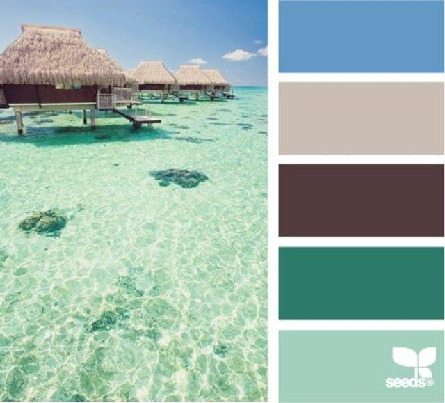 Palette de couleurs autours du vert d'eau