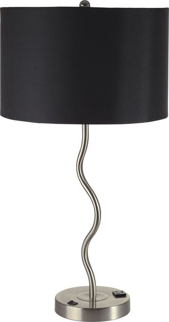Furniture of America Sprig Collection Black Table Lamp L76224T-BK