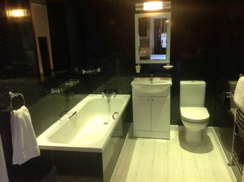 10 Black Sparkle UPVC Bathroom Cladding Plastic Kitchen Wall Ceiling Panels | eBay
