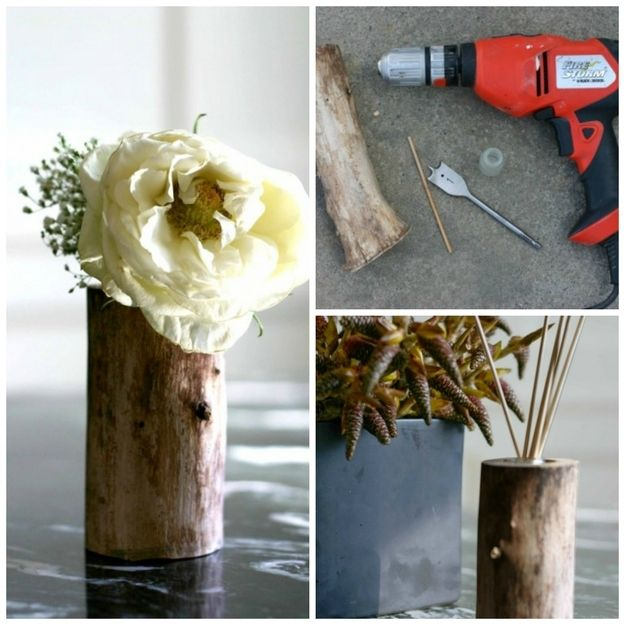 19. Natural Log Vase | 22 Perfect DIY Gifts For Stressed-Out Moms