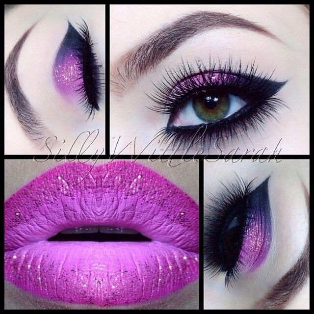 @SillyWittleSarah gorgeous fuchsia makeup