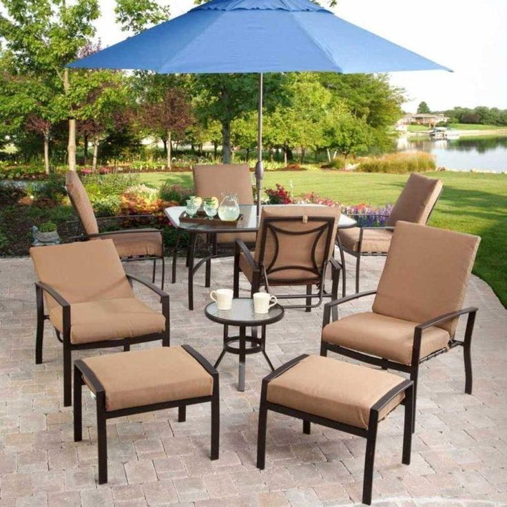 Outdoor Brown Conventional Stained Steel Conversation Set With Mug Also  Blue Patio Umbrella And Cheap Patio - 17 Best Ideas About Cheap Patio Furniture Sets On Pinterest