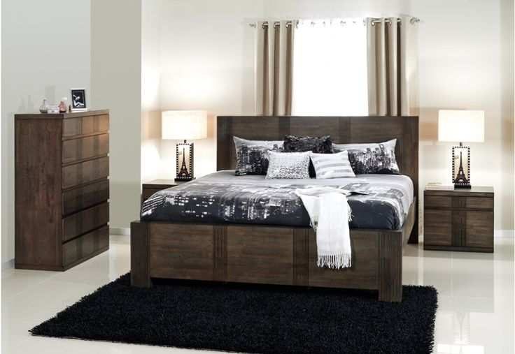 Kozmo 4 Piece Tall Chest Queen Bedroom Suite Super A Mart Home