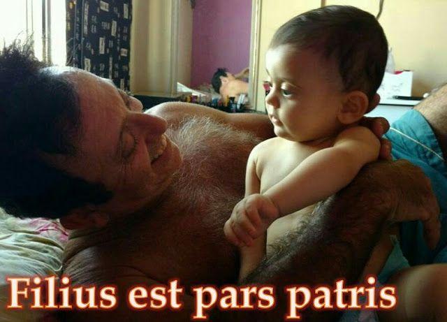 Filius est pars Patris O filho é parte do pai :  Son is part of the father