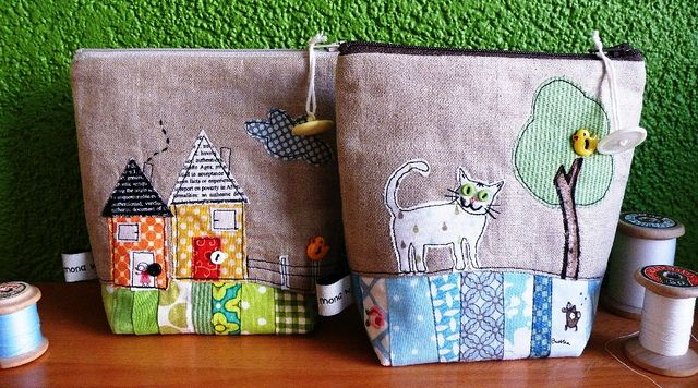 Linen Pouch by Monika by Fat Quarterly