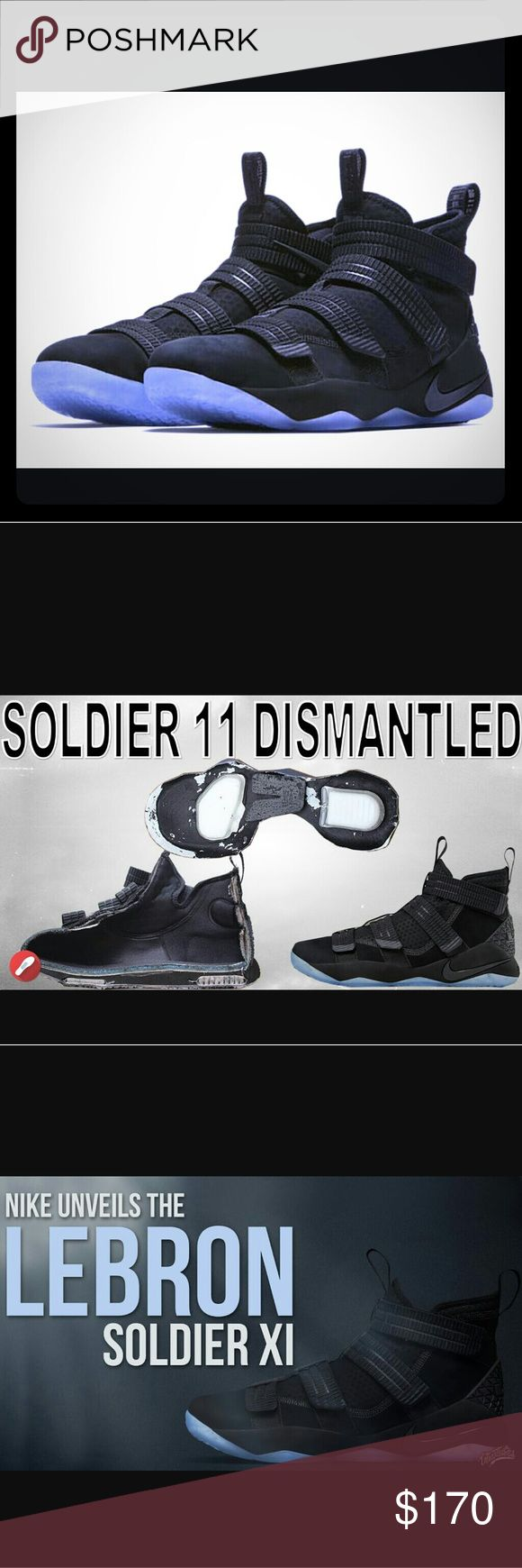 NIKE LEBRON JAMES SOLDIER 11 SNEAKERS SIZE 12 NEW LEBRON SOLDIER 11 SFG BLACK ICE COLORWAYS SNEAKERS SIZE 12M RELEASED ON MAY 31ST 2017 Nike Shoes Sneakers