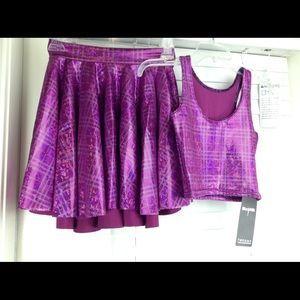 Blackmilk Tops - Black Milk Clothing Disco Doll Crop Top &a Skirt