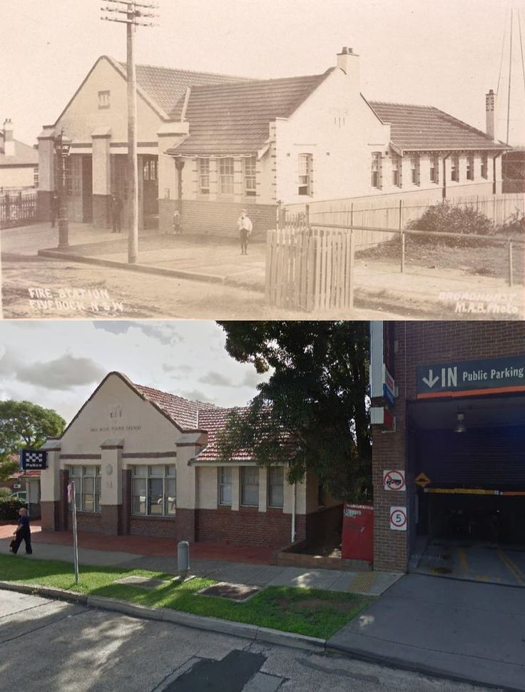 Five Dock Fire Station c1900 to Five Dock Police Station in 2014 - Garfield Street, Five Dock. [circa 1900 - State Library of NSW>2014 - Google Street View. By Phil Harvey]