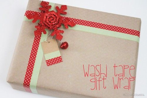 Washi Tape Wrap  via Create Craft Love