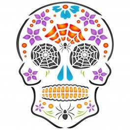 Bring some colour to Halloween with Stencils for Walls' Halloween Sugar Skull Stencil. Use it on your walls or to create DIY wall art. Cheap, easy to use and very effective. Stencilling is a versatile and exciting way to accessorize on any flat surface of your choice. Our stencils produce high quality designs with minimum fuss.