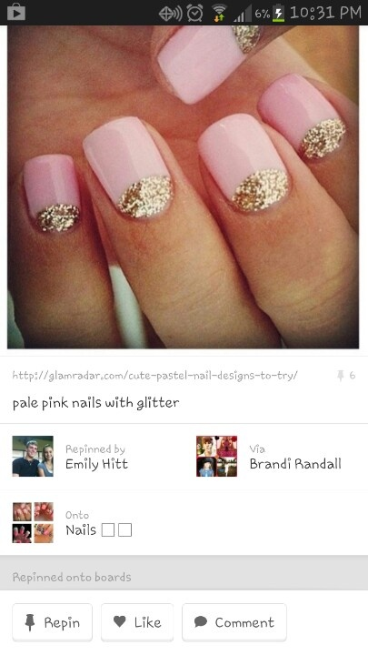 Prom nails maybe but reverse colors black with silver sparkles