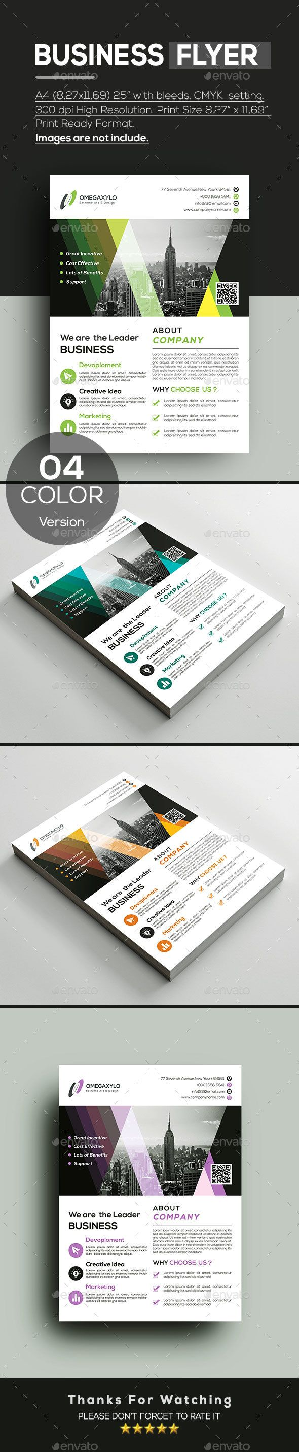 #Business #Flyer - Corporate Flyers Download here: https://graphicriver.net/item/business-flyer/19711048?ref=alena994