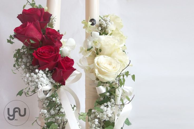 Yau concept_yau flori_rosu entru lumanari de nunta