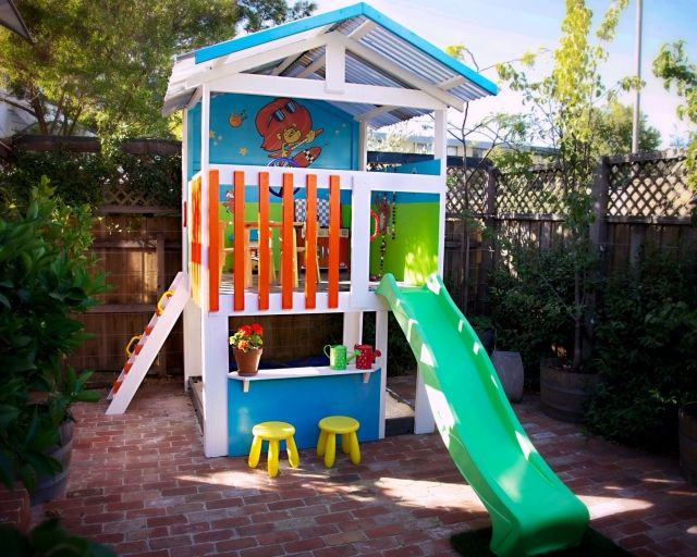 The 25 best cubby houses ideas on pinterest cubby house for Play fort ideas
