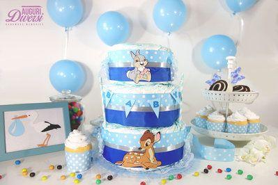 Auguri Diversi diaper cake - Torta di pannolini 3 piani (70 pannolini Pampers Baby Dry tg.3) - Nascita, Baby Shower, Battesimo www.facebook.com/AuguriDiversi