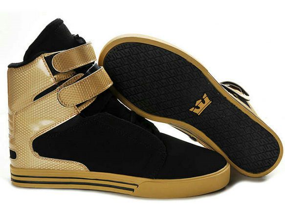 Men's Supra TK Society Black Gold Shoes