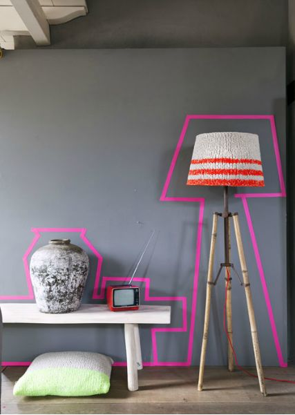 I am loving all of the quirky ideas people are coming up with using  washi tape...love the knitted lampshade too!!!