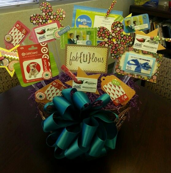Gift Card Basket
