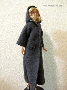 Long manteau avec capuche pour Barbie | Miss B. Couture