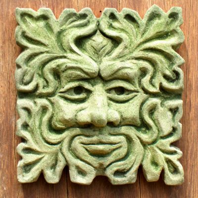 SUSSEX GREEN MAN (SMALL SQUARE) Traditionally styled and nicely detailed Green Man from the South Downs country. This piece was made by Simon Jameson of 1066 Creations, Shropshire.