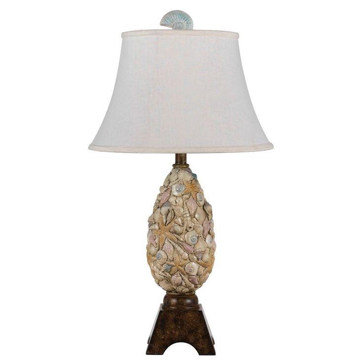 CAL Lighting 150W Coastal Resin Table Lamp in Brown BO-2475TBBO-2475TB 150W Coastal Resin Table Lamp