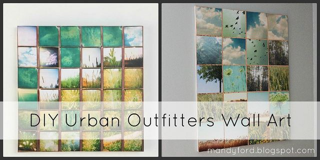 DIY Urban Outfitters wall art by {mandyford}, via Flickr: Photo Collage, Photo Wall, Diy Artwork, Diy Wall Art, Natural Photo, Outfitters Wall, Diy Urban, Urban Outfitters Art, Girls Life