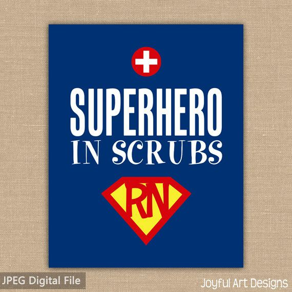 Super Hero in Scrubs Nurse PRINTABLE sign. Nurse Appreciation gift. Doctor Office Decor. School Nurse Superman Wall Art. 8x10 DIGITAL file. $7.00