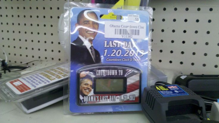 Obama Countdown Clock at a thrift store