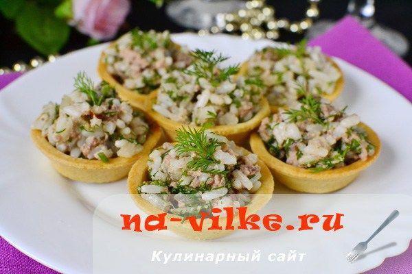Салат Вкусная корзинка – с печенью трески и рисом | Застолье-онлайн