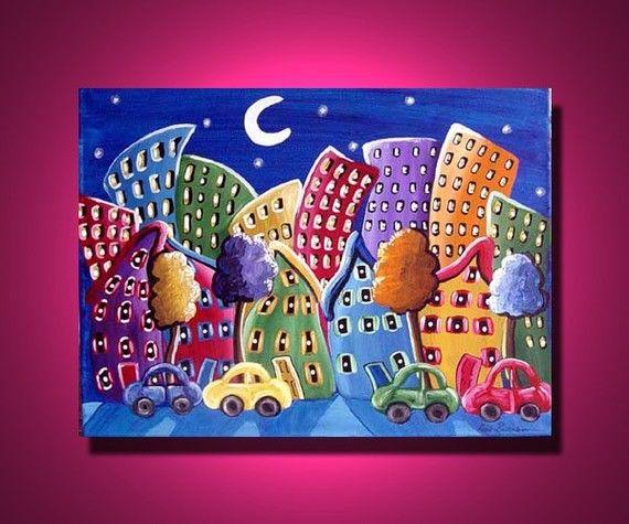 whimsical cityscape