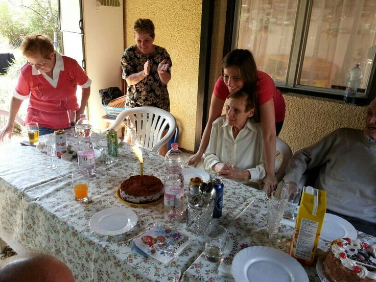 At my bday with Grandma. I got three cakes, loved it :)