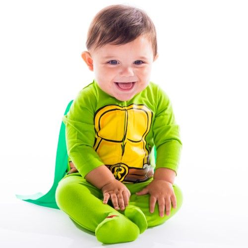 Nickelodeon Ninja Turtles Baby Footie Pajamas with Cape (0-3 Months)